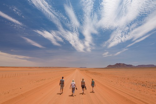 Photographers in the desert in Namibia
