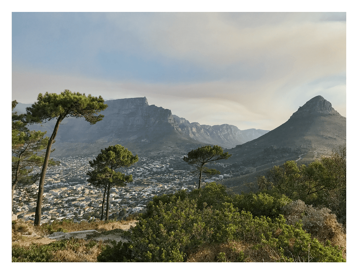 Photograph looking over Lion's Head and Cape Town by Andrea Rees